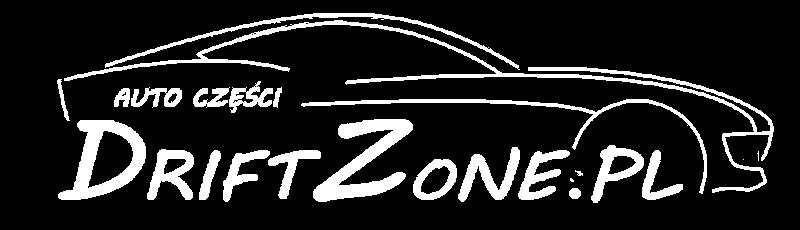 Logo firmy DriftZone.pl zawierające kontury samochodu z napisem auto części DriftZone.pl