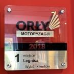 Na zdjęciu statuetka przyznana dla Auto Części DriftZone.pl za zajęcie pierwszego miejsca w mieście Legnica w zestawieniu Orły Motoryzacji 2018 - Wybór Klientów